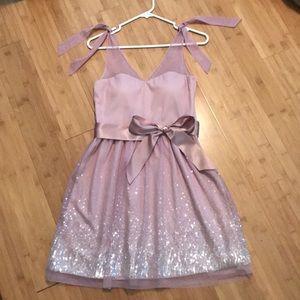 Delia's pink sparkle semi formal dress